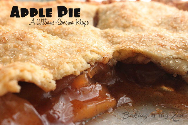 Apple Pie ~Up Close ~Williams-Sonoma Recipe